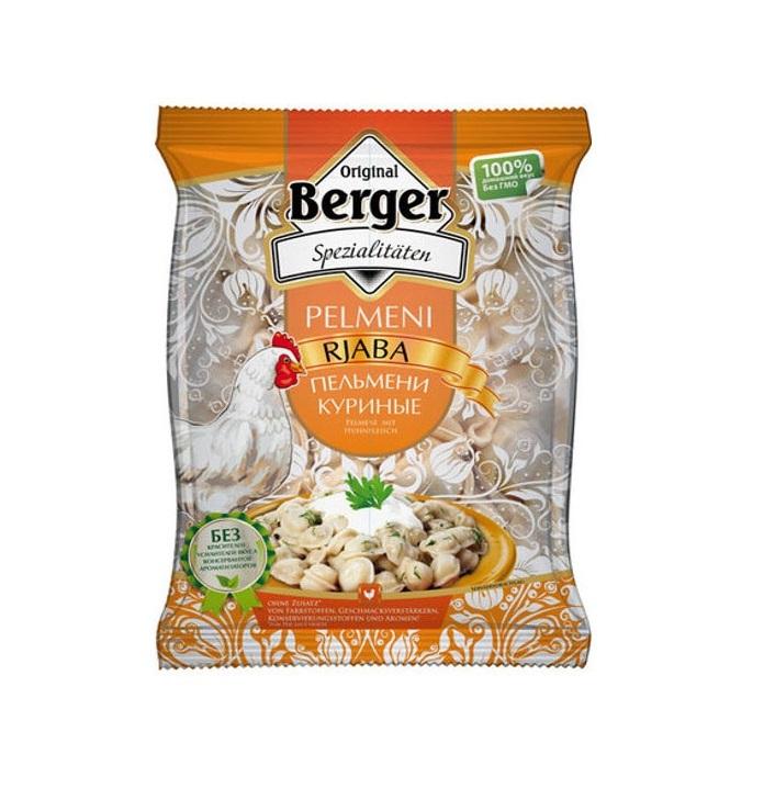Berger Taštičky Pelmeně Rjaba s kuřecím masem 900g