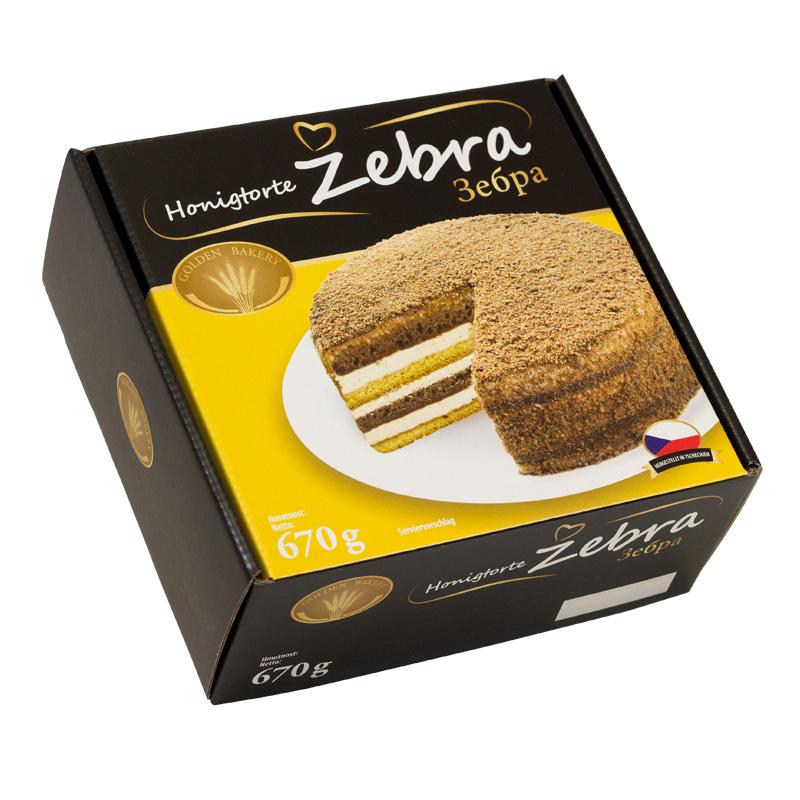 Golden Bakery Medovník Zebra 670g