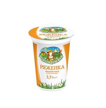 Rodnaja Derevna Rjaženka jogurt 3,5% tuku 500ml