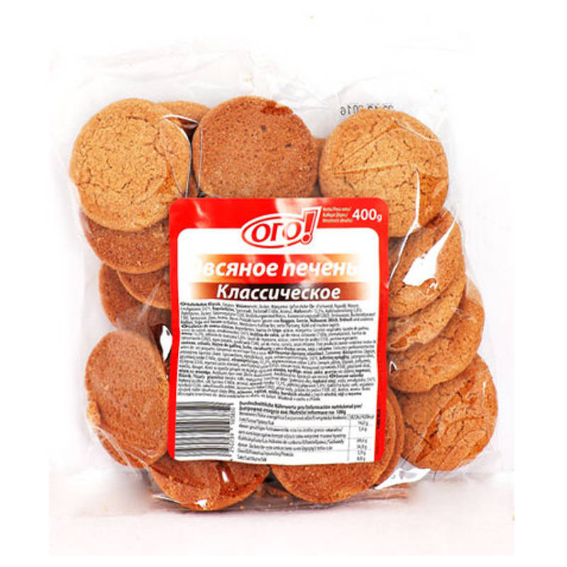 Ogo! Ovesné sušenky  Klassik 400g