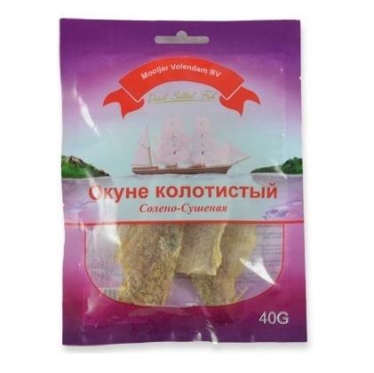 Zlatý Okouník slaný sušený filé 40 g