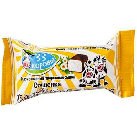 33 Korovy Tvaroh s kondenzovaným mlékem v čokoládové polevě 38g